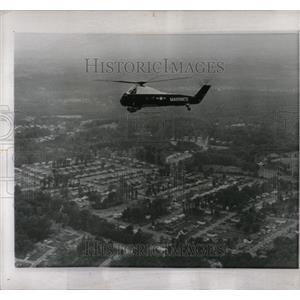 1959 Press Photo Marine Corps copter Washington flies