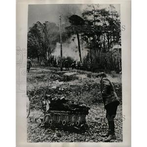 1939 Press Photo Russian Plane Shot Down in Finland - RRX70211