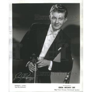 1942 Press Photo Johnny Long Violinist Bandleader - RSC95977