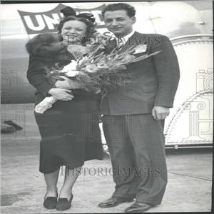 1937 Press Photo Mr. and Mrs. Jacino Married In Plane