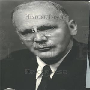 1934 Press Photo H V Kaltenborn Current Events Cast