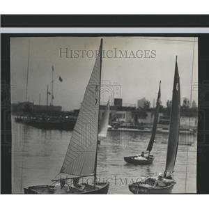 1940 Press Photo Sailboats Regatta Columbia Yacht Club