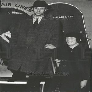 1935 Press Photo Union Leader Harry Bridges Air Plane