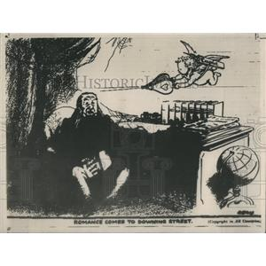 1936 Press Photo Political Cartoon Of Premier Baldwin In London Evening Standard