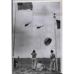 1955 Press Photo Marine Corps Helicopters Aircraft Show - RRX64921