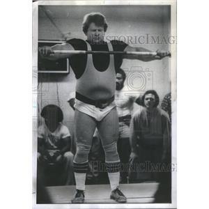 1975 Press Photo Noel Wroblewski Sayre Park Weightlifting Club - RSC70975