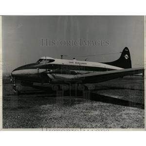 1959 Press Photo Passenger Airplane Tag Airline Detroit - RRW63447