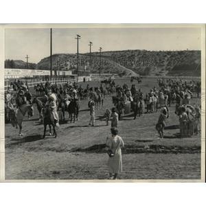 1935 Press Photo Indians Ellensburg Washington Rodeo - RRX80095