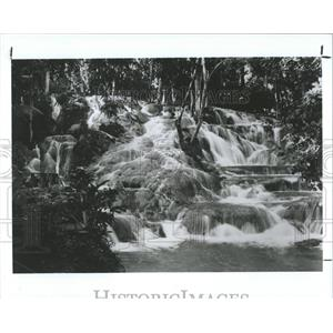 1988 Press Photo Jamaican waterfall - RRX83783