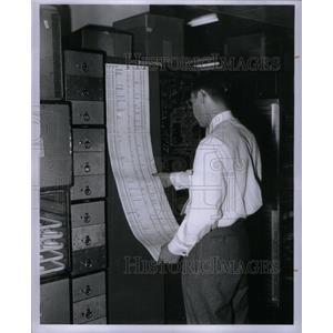 1955 Press Photo Airplane/Food/Passenger Meal - RRX31539
