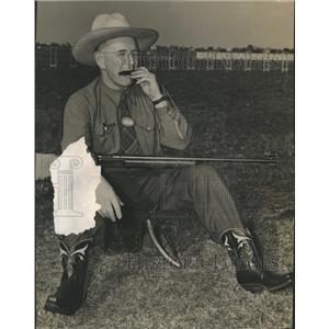 1941 Press Photo Thurman Randle Texas Sharpshooter National Rifle Meet