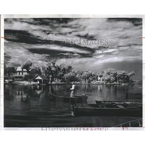 1963 Press Photo Crystal River Is Florida's Most Picturesque Fishing Area