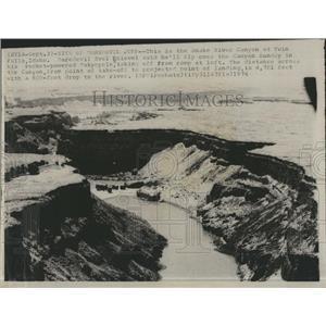 1974 Press Photo Snake River where Evil Knievel plans to rocket jump