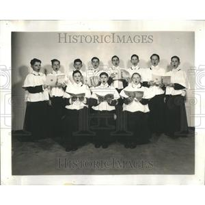 1941 Press Photo Choir