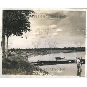 1939 Press Photo Lake Cadillac Causeway