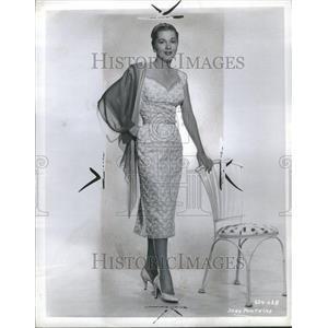 1956 Press Photo Joan Fontaine Actress Olivia de
