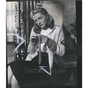 1946 Press Photo Joan Fontaine Actress Stage