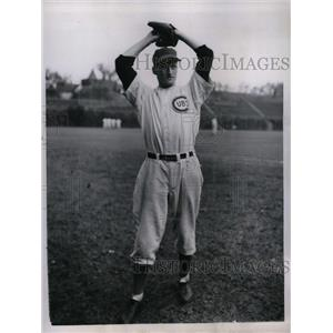 1945 Press Photo Henry Borowy Pitcher Chicago Cubs National League Pennant