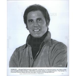 1977 Press Photo Gambler Michael Dante Portrays Gambler Blinded Underworld Gang