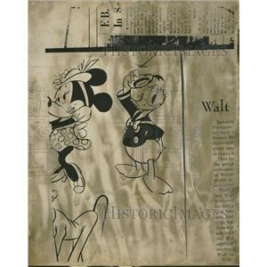 1958 Press Photo Cartoons