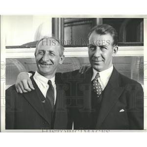 1931 Press Photo Otto Hilig & Holger Hoirils of Liberty