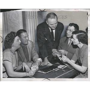 1951 Press Photo Edward M.cherounet Director Tournament