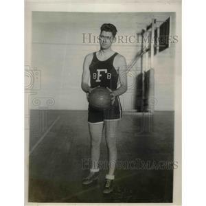 1927 Press Photo Fordham University Basketball Center Morgan Sweetman