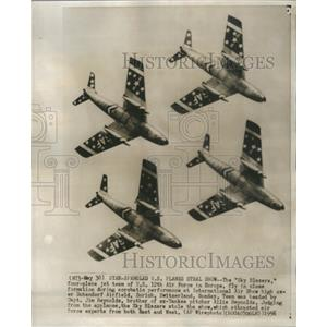 1956 Press Photo Sky Blazers Four Plane Jet Teams US 12 - RRS57721