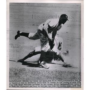 1951 Press Photo Alvin Dark Giants, Cincinnati Lloyd Merriman - nes00140