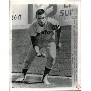 1965 Press Photo Chris Zachary Knoxvill Astro Rookie Pitcher - nes01049