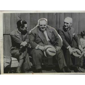 1932 Press Photo Lou Comiskey Harry Grabiner Joe Barry White Sox Mineral Wells