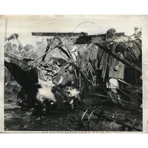 1931 Press Photo Wreckage of plane that crashed in Washington, DC