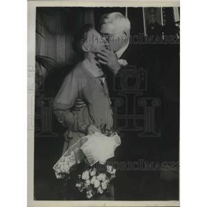 1930 Press Photo Newlyweds in their 80s Mr & Mrs Marcus Wheeler Corwin