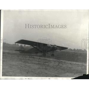 1930 Press Photo A 1930 Plane