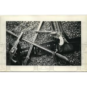 "1931 The Photo Shop Press Photo of ""Tools"" Used in the Zulu Campaign, Anglo-Zulu"