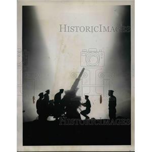 1929 Press Photo Manassas, Va. National Guard & anti aircraft battery