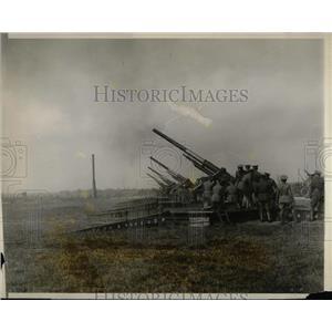 1928 Press Photo Anti aircraft guns in action at Aberdeen, Md.