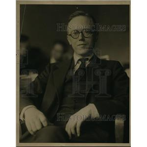 1927 Press Photo Professor Willard Atkins New York University