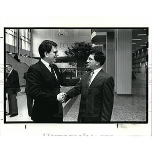 1988 Press Photo Mark Bisnow, Edward Danberry, North Coast Admirals of the Year
