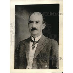 1923 Press Photo Carlos B Zetina Former Mexico City Mayor and Factory Owner