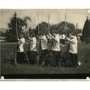 1926 Vintage Press Photo Girl Archers University Southern California