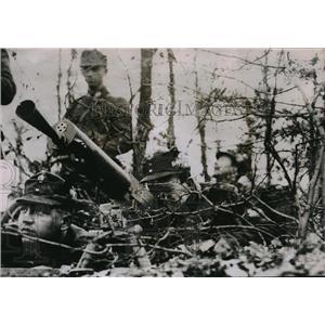 1935 Press Photo Machine Gunners at Soldier Maneuvers of Heimwehr Near Vienna
