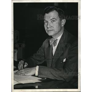 1934 Press Photo Robert H. Jackson at Washington as New Internal Revenue Counsel