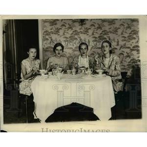 1929 Press Photo Lalle Lynn, Elizabeth Dunlap, Virginia Yellott, Caroline Henry,
