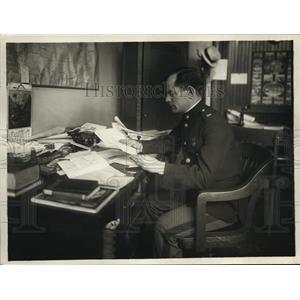 1918 Press Photo Major Frank E. Evans, Marine Corps