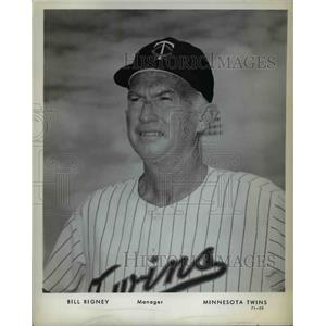 Press Photo Minnesota Twins Manager Bill Rigney