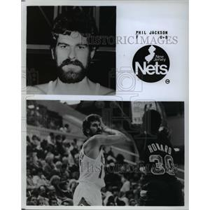 Press Photo New Jersey Nets Phil Jackson