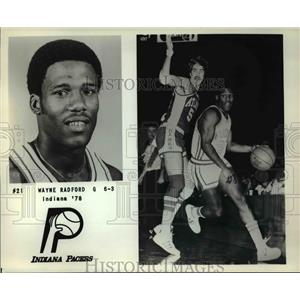 1978 Press Photo Wayne Radford, Indiana Pacers Guard