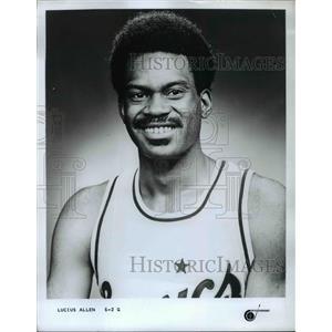 Press Photo Guard Lucius Allen, Seattle Supersonics Basketball Player