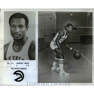 1978 Press Photo Atlanta Hawks Charles Criss basketball Player